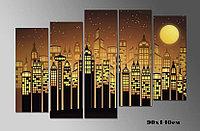Картина Город абстрактный