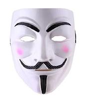Маска Анонимуса белая / Маска Гая Фокса / Карнавальная маска / Маска V - значит Вендетта