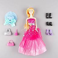 Sariel: Кукла в вечернем малиновом платье с аксессуарами