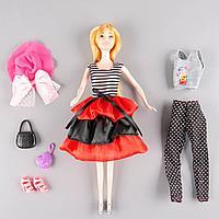 Sariel: Кукла с дополнительным нарядом и аксессуарами, в черно-малиновой юбке
