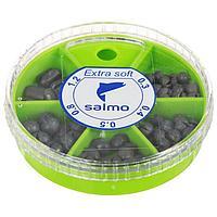 Грузила Salmo EXTRA SOFT, набор малый, 5 секций 0,3-1,2 г, 60 г