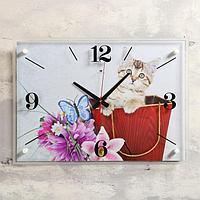 """Часы настенные, серия: Животный мир, """"Котенок"""", 40х56 см, микс"""