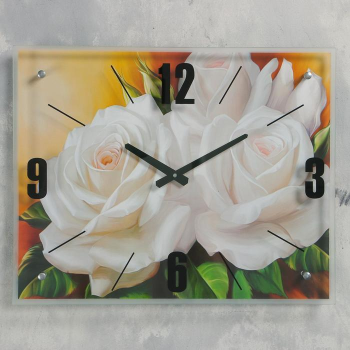 "Часы настенные, серия: Цветы, ""Цветы"", 40х50  см, микс"