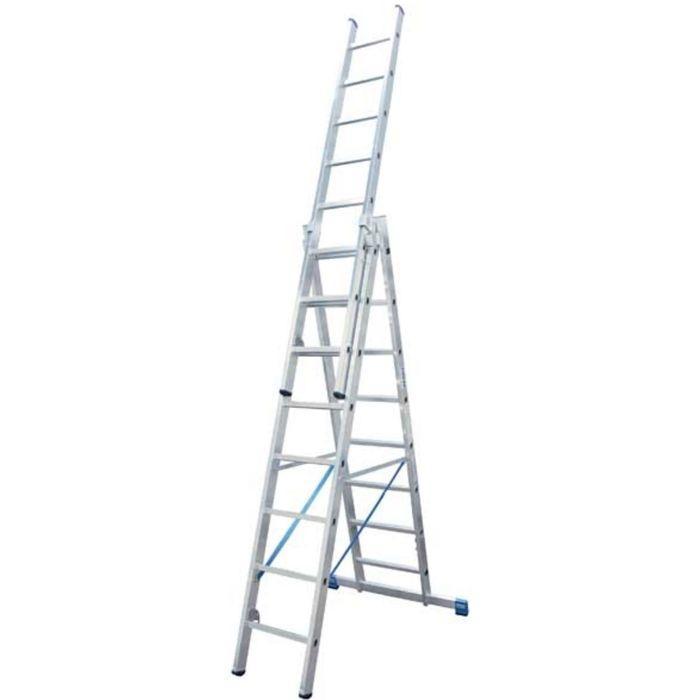 Лестница KRAUSE STABILO, трехсекционная, с траверсой, с доп. функцией, 8 ступеней