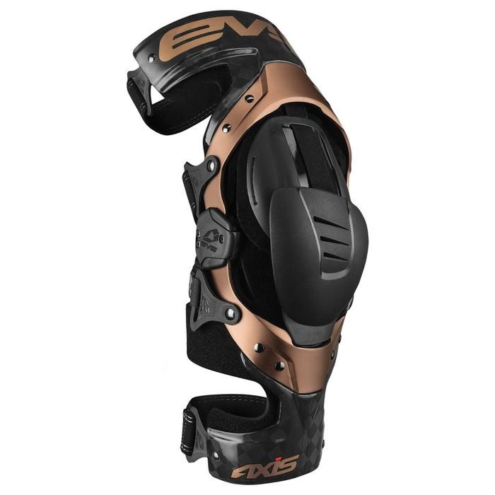 Брейсы EVS AXIS PRO, взрослые, размер S, чёрный, коричневый