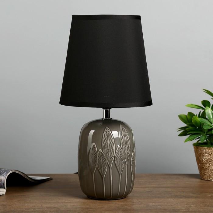 """Лампа настольная """"Ясень"""" Е14 1х40Вт черный 17,5х17,5х34 см"""