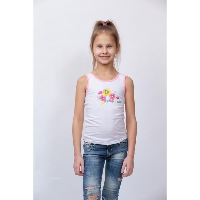 Топик для девочки, рост 104 см, цвет розовый кант
