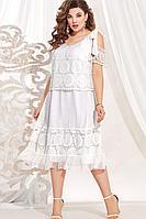 Женское летнее белое большого размера платье Vittoria Queen 13723 белый 48р.