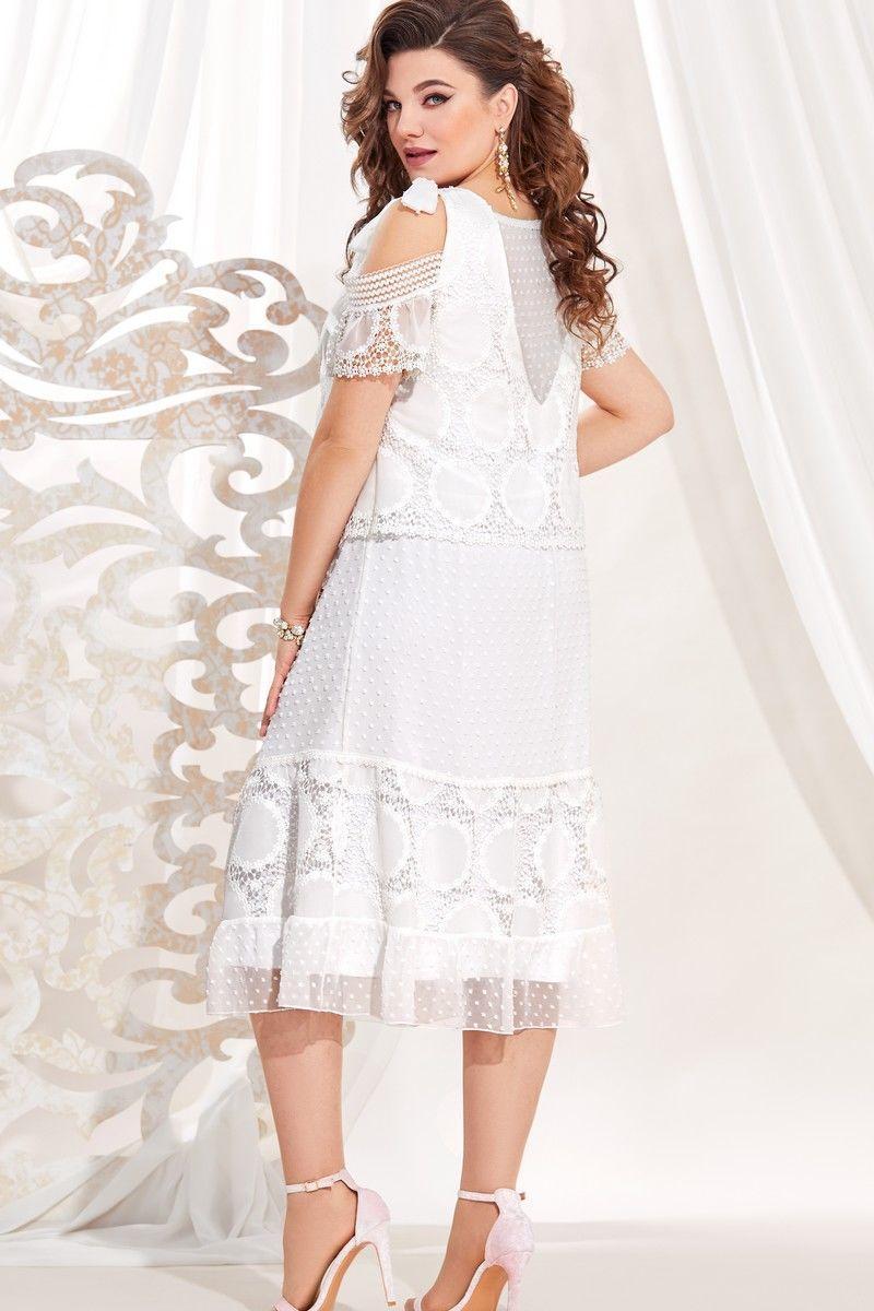 Женское летнее белое большого размера платье Vittoria Queen 13723 белый 48р. - фото 2