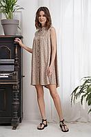 Женское летнее из вискозы бежевое платье Fantazia Mod 3962 46р.