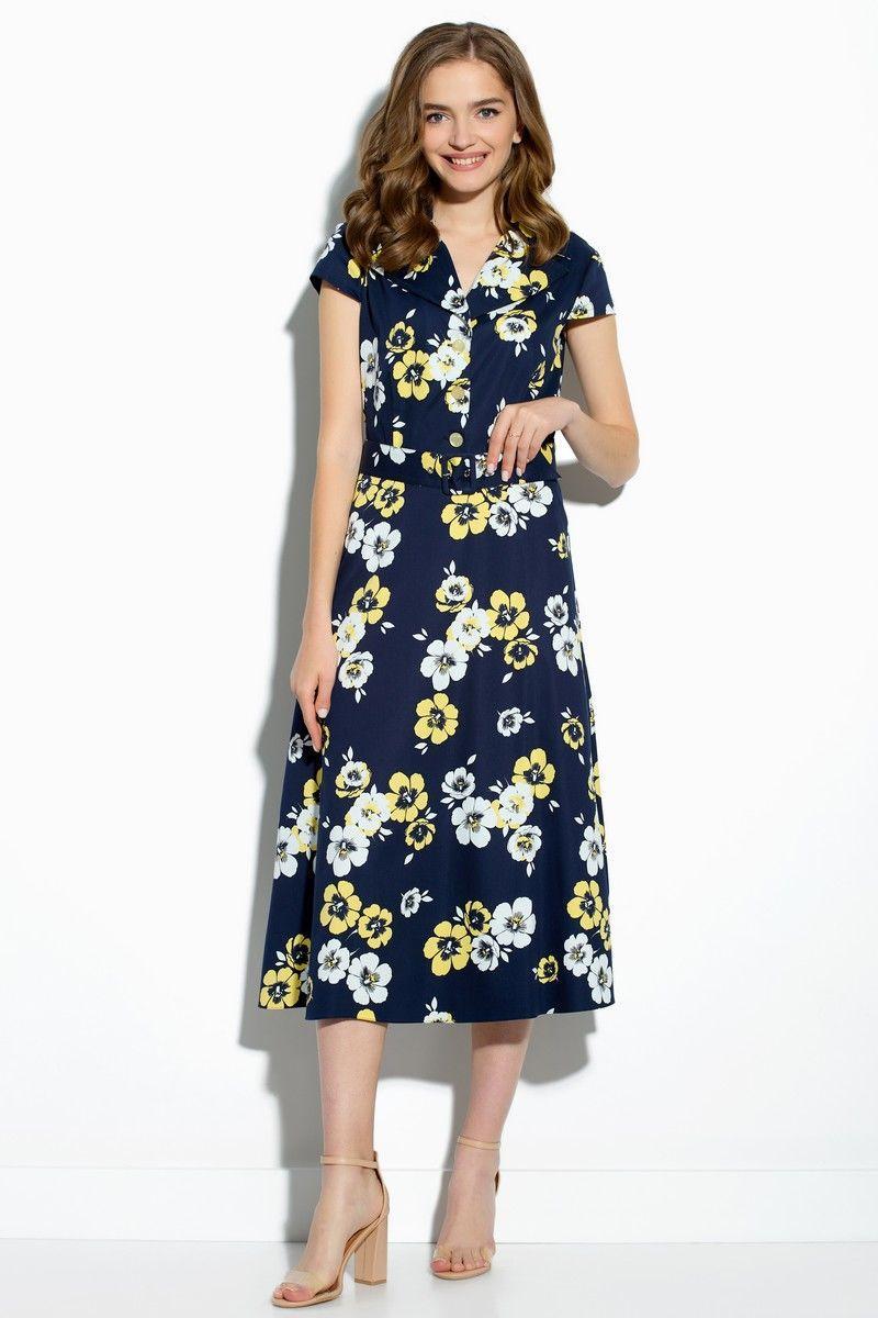 Женское летнее хлопковое платье Gizart 7212-3 44р. - фото 1