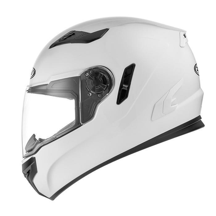 Шлем интеграл ZS-813A, глянцевый, белый, S