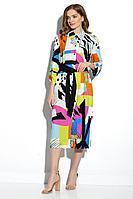 Женское летнее из вискозы платье Gizart 7502-1 46р.