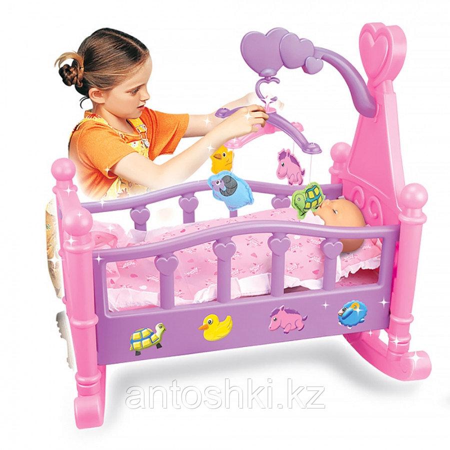 """PITUSO Набор """"Пупс (35 см) +кроватка для кукол"""" (53*31*50см) (в кор.12 шт.) - фото 1"""