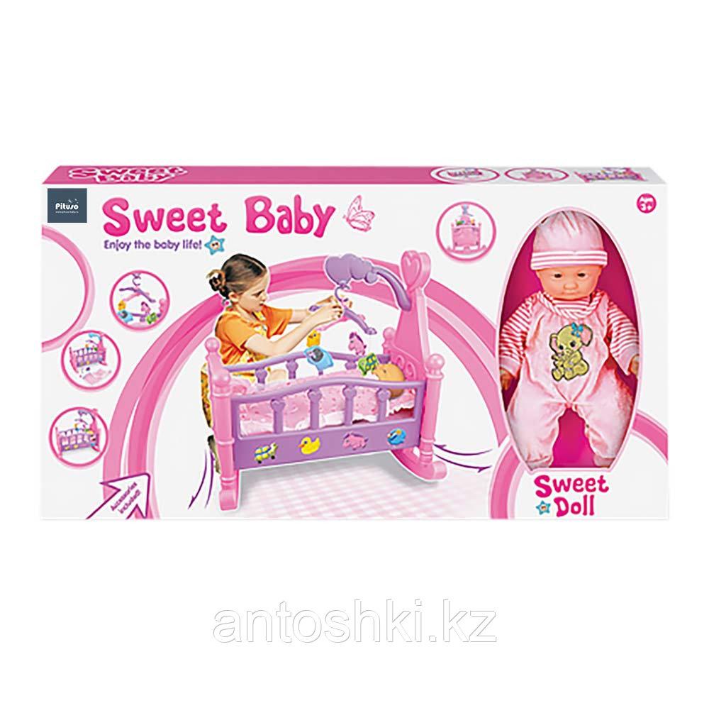"""PITUSO Набор """"Пупс (35 см) +кроватка для кукол"""" (53*31*50см) (в кор.12 шт.) - фото 2"""
