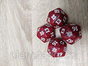 Кубик D20  с логотипом сетов MTG : цвет красный