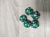 Кубик D20  с логотипом сетов MTG : цвет зеленый