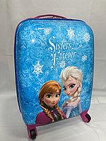 Детский чемодан на 4-х колесах для девочек, с 5-и до 8-и лет.Высота 46 см, ширина 30 см, глубина 22 см., фото 1