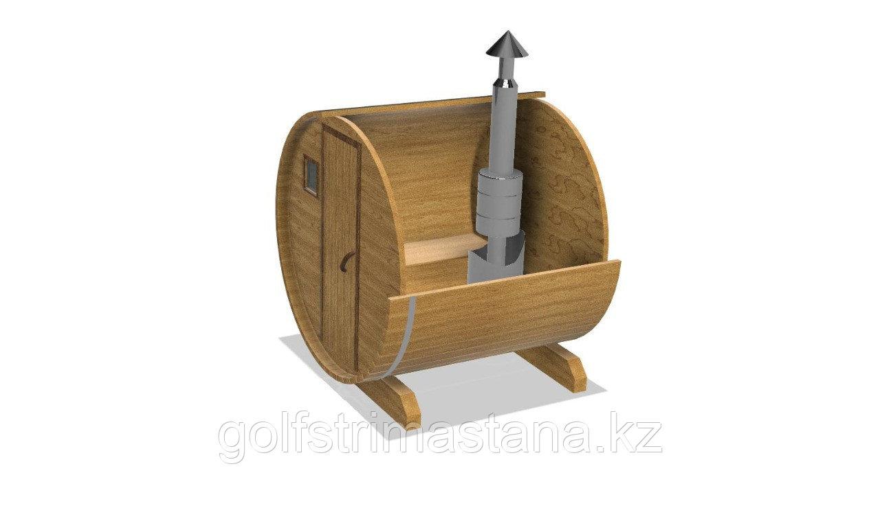Баня-бочка из кедра д*ш: 2*2,1 м. / круглая