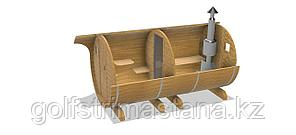 Баня-бочка из кедра д*ш: 3*2,1 м. / круглая