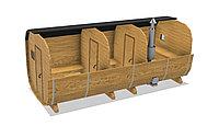 Баня-бочка из кедра д*ш: 5*2,1 м. / Квадратная