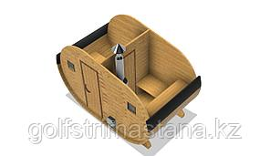 Баня-бочка из кедра д*ш: 4*2,3 м. / Овальная