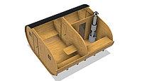 Баня-бочка из кедра д*ш: 5*4 м. / Овальная
