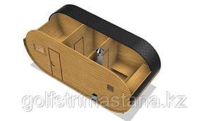 Баня-бочка из сосны д*ш: 6*2,3 м. / Овальная