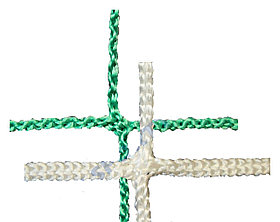 Сетка заградительная 40х40х2.6 бел/зелен.