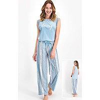 Пижама женская 1 XL / 50-52, Голубой