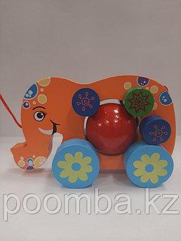 Развивающая игрушка-каталка Слоник