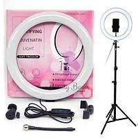 Кольцевая лампа светодиодная (LED) S31, Дм 31 см с держателем для телефона