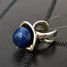 Кольцо- шляпка СО с синим шариком 1,7 см / размер регулируется (Испания)