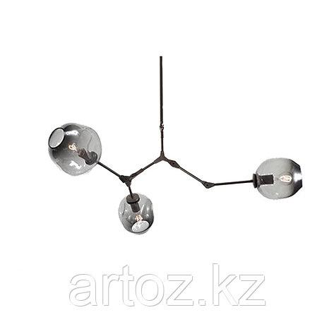 Светильник подвесной Branching Bubble Chandelier - 3 Light (Black-Smoky), фото 2