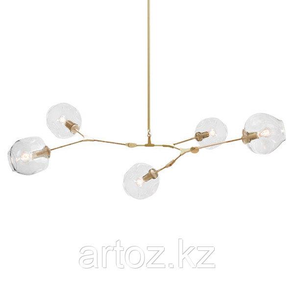 Светильник подвесной Branching Bubble Chandelier - 5 Light (gold-Transparent)