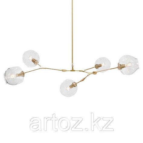 Светильник подвесной Branching Bubble Chandelier - 5 Light (gold-Transparent), фото 2