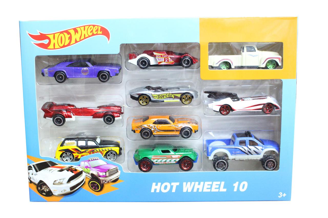 Машинки железные 10в1 1604-2