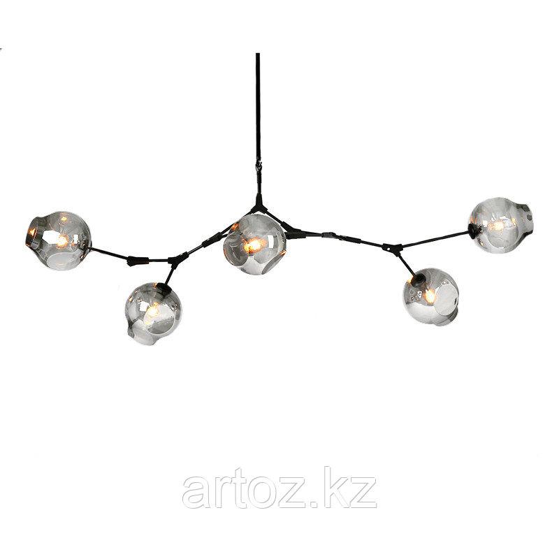 Светильник подвесной Branching Bubble Chandelier - 5 Light (Black-Smoky)