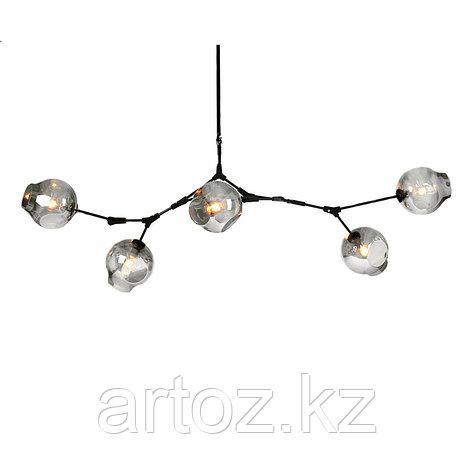 Светильник подвесной Branching Bubble Chandelier - 5 Light (Black-Smoky), фото 2
