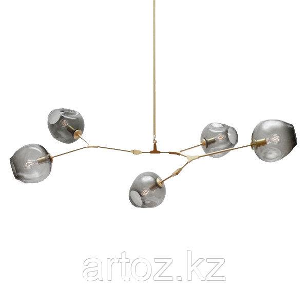 Светильник подвесной Branching Bubble Chandelier - 5 Light (gold-Smoky)