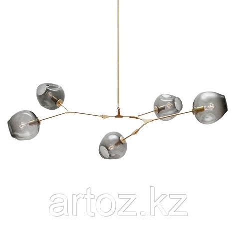 Светильник подвесной Branching Bubble Chandelier - 5 Light (gold-Smoky), фото 2