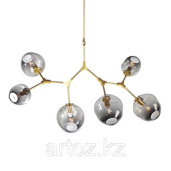 Светильник подвесной Branching Bubble Chandelier - 6 Light (gold-smoky)