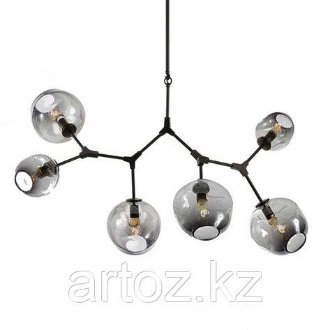 Светильник подвесной Branching Bubble Chandelier - 6 Light (Black-Smoky), фото 2