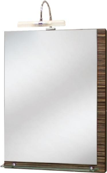 Зеркало Cersanit Zebrano 50 50*70*11 с полочкой, с подсветкой (Y-LU-ZEB-Os) зебрано - фото 1
