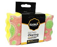 """С2030 Губки для посуды """"KOLIFU"""" С рисунком (2шт)"""