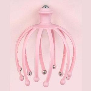 Массажер-антистресс головы «Мурашка» с магнитными шариками (Розовый)