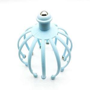 Массажер-антистресс головы «Мурашка» с магнитными шариками (Голубой)