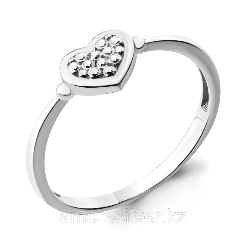 Кольцо Aquamarine серебро с родием, без вставок, love 54733.5
