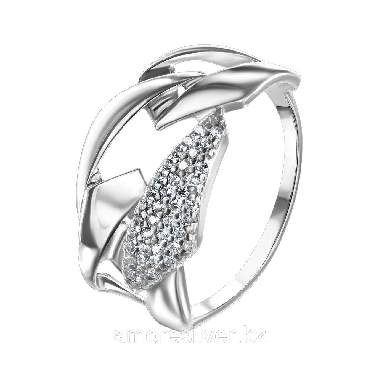 Серьги TEOSA серебро с родием, без вставок 10119-0598-CZ размеры - 18