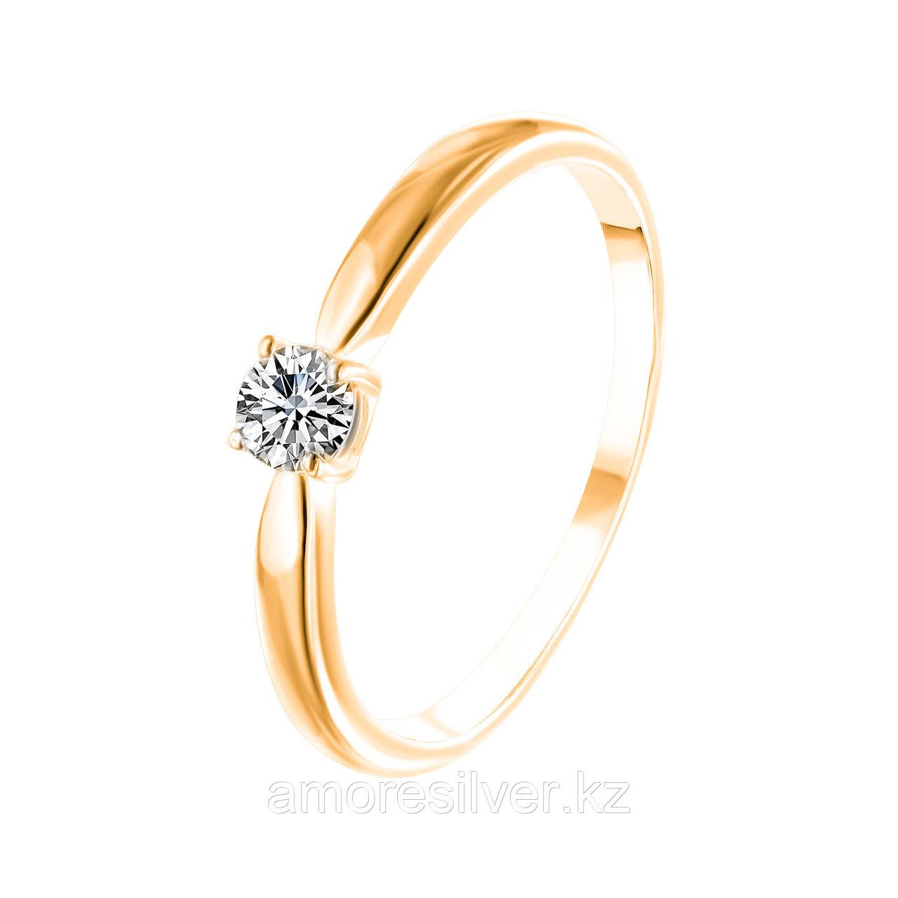 Кольцо TEOSA серебро с позолотой, фианит 20119-0607-CZ размеры - 16